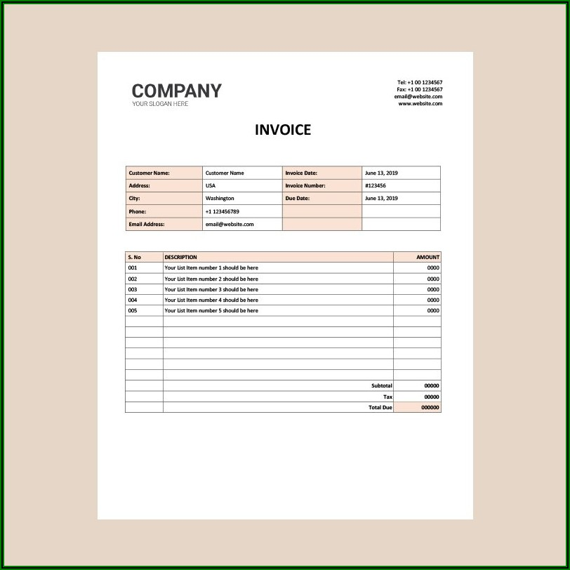 Free Design Invoice Template Word