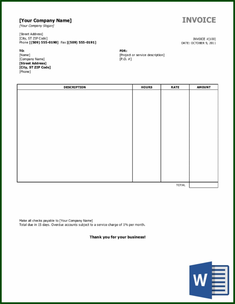 Free Fillable Landscaping Invoice Template
