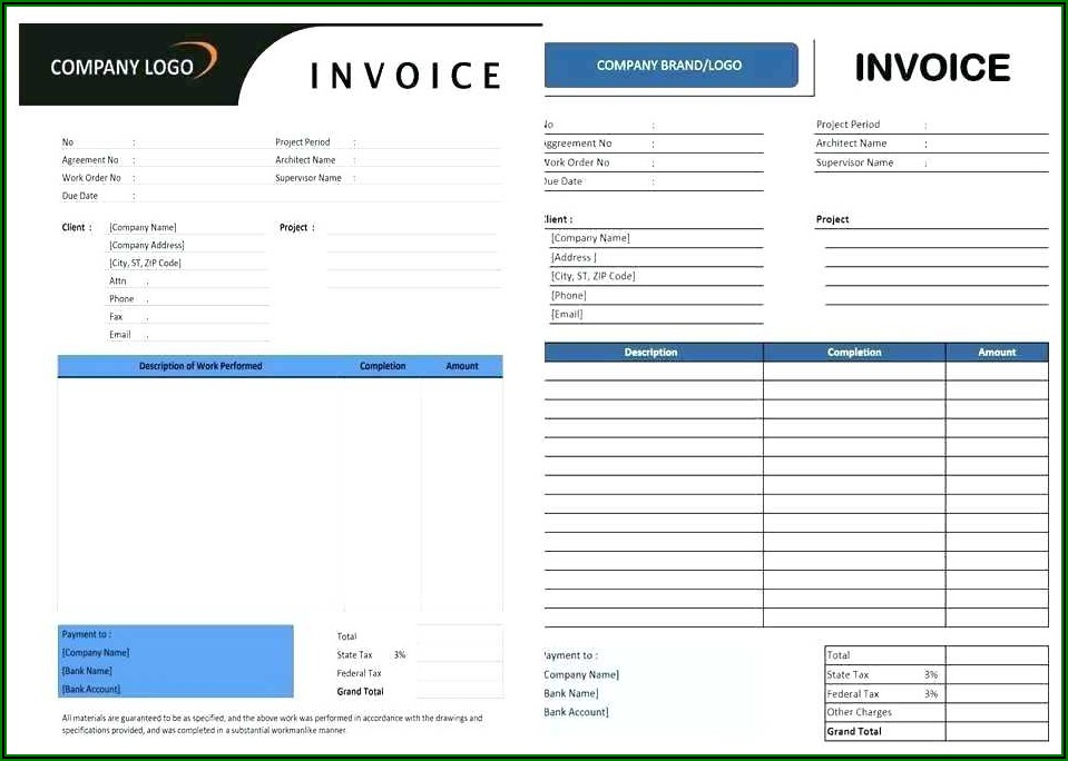 Free Invoice Template For Consulting Services