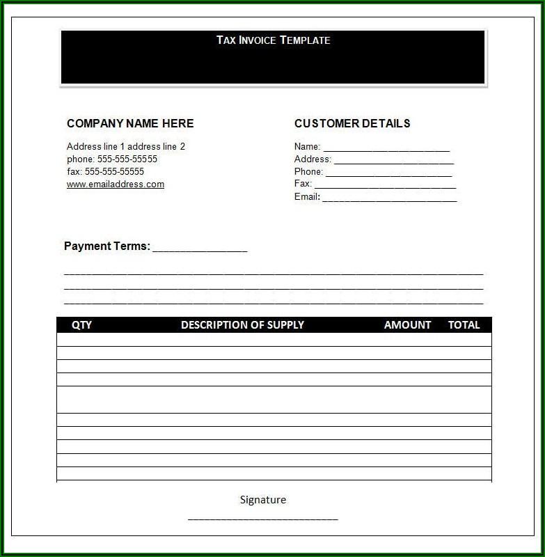 Free Invoice Template Microsoft Word 2007