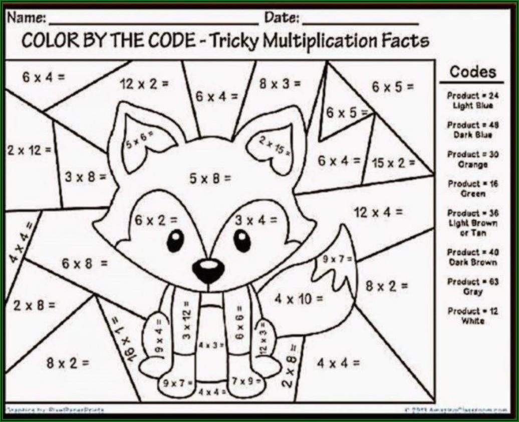 Free Math Coloring Worksheets Kindergarten