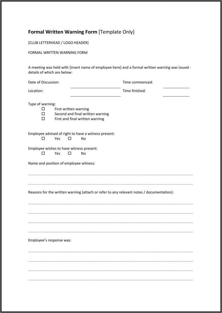 Free Printable Employee Incident Report Template