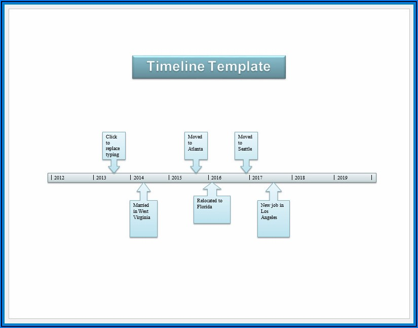 Free Timeline Template Word