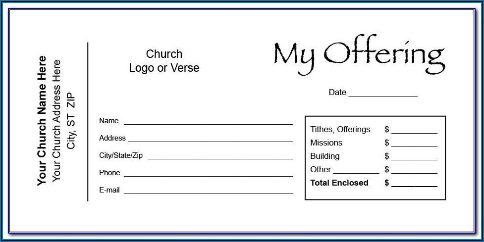 Free Tithes And Offering Envelope Template