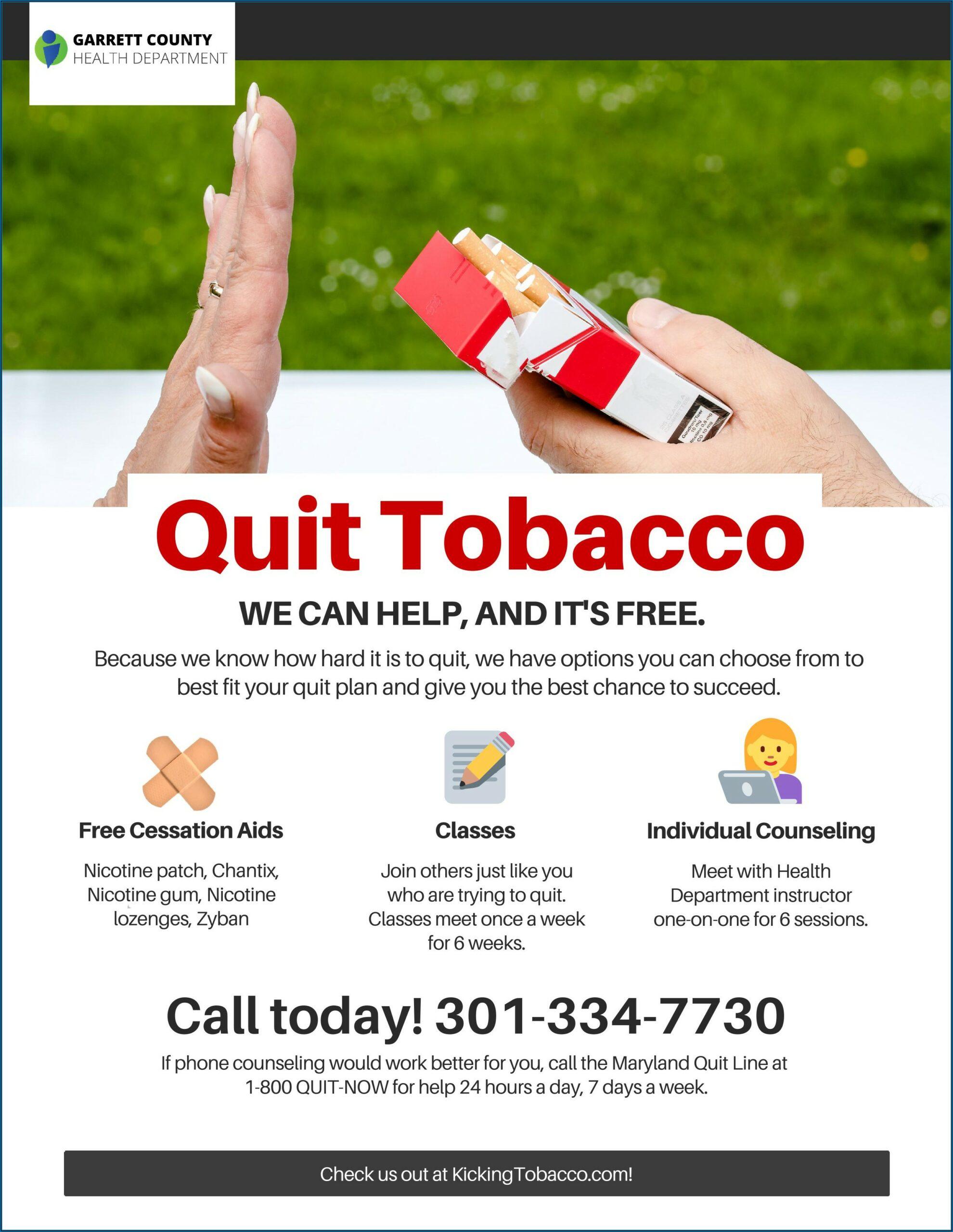 Free Tobacco Cessation Brochures