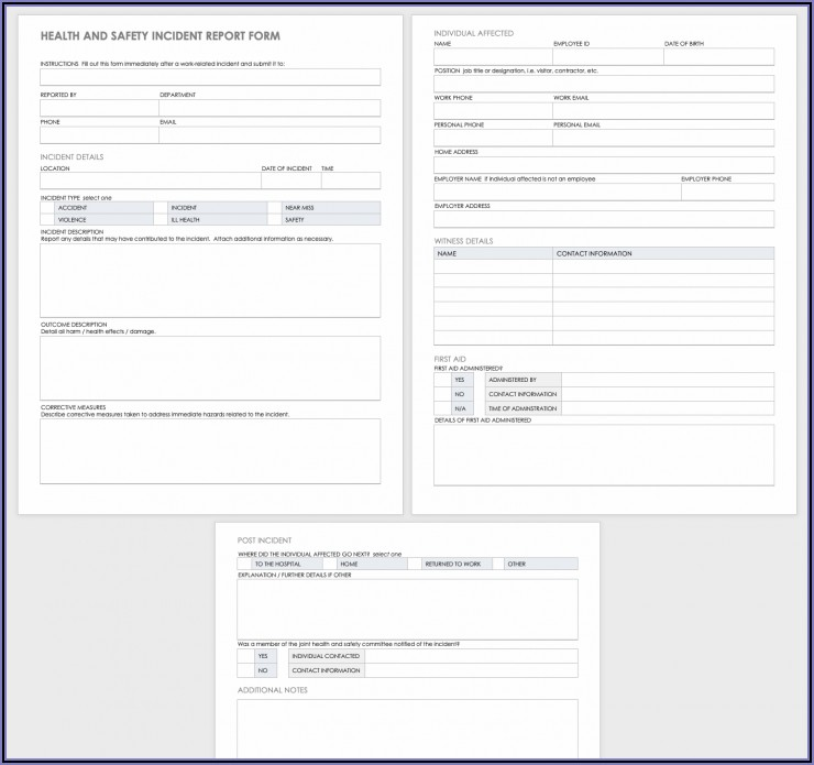 Free Workplace Accident Report Form