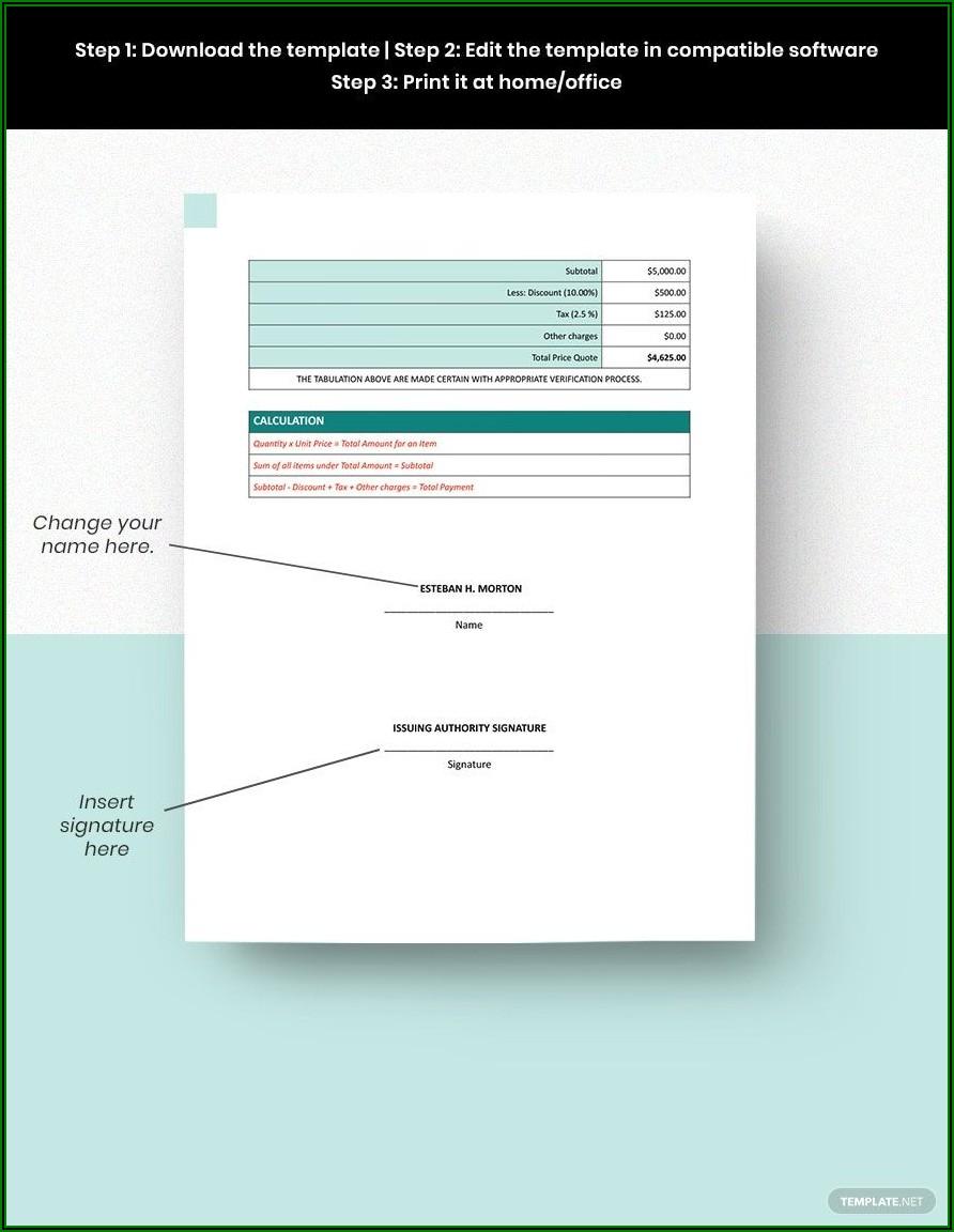 Freelance Invoice Template Word Doc