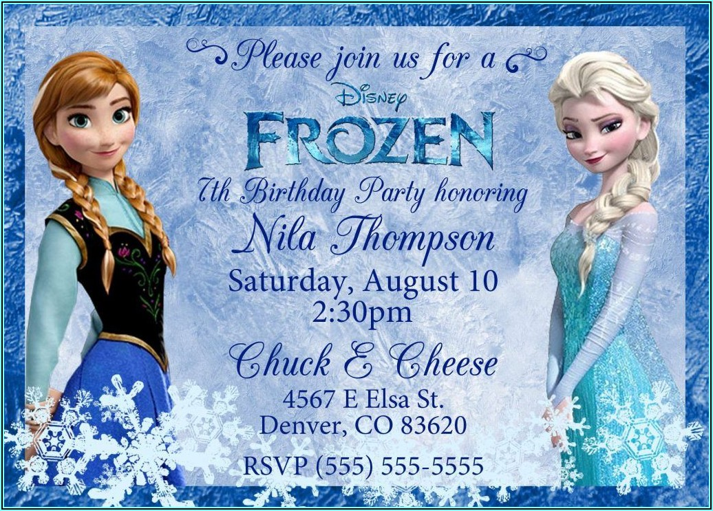Frozen Birthday Invitations Online