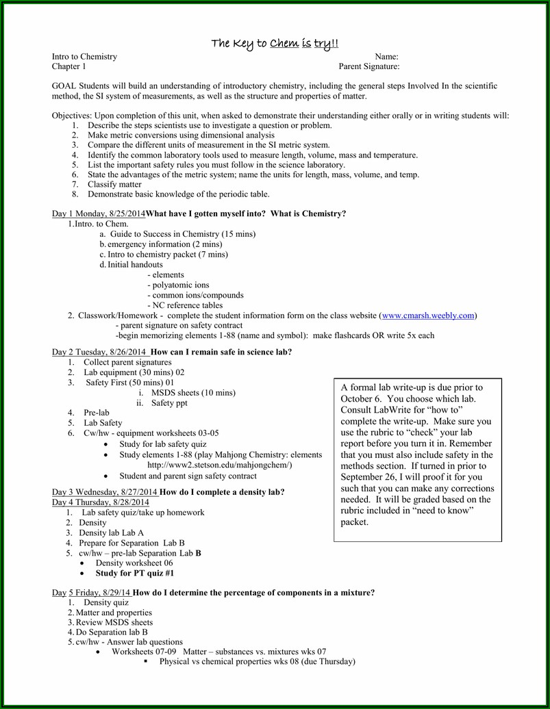 General Chemistry Temperature And Density Worksheet #1 Answer Key