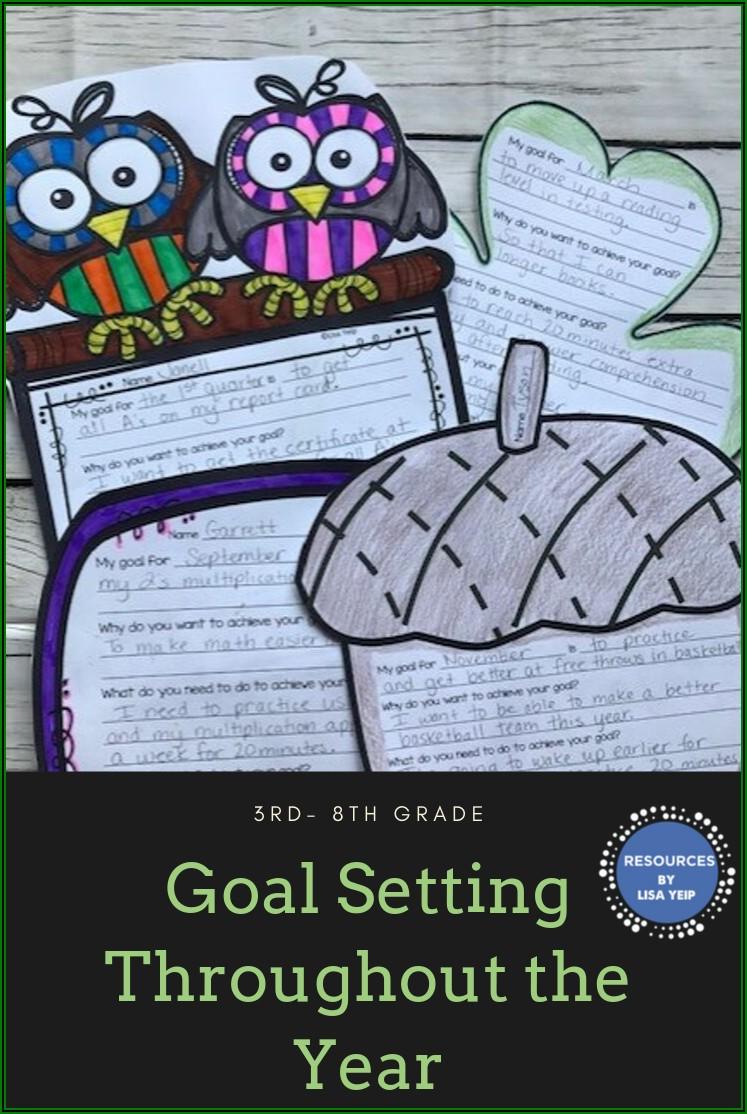 Goal Setting Sheet For Teachers