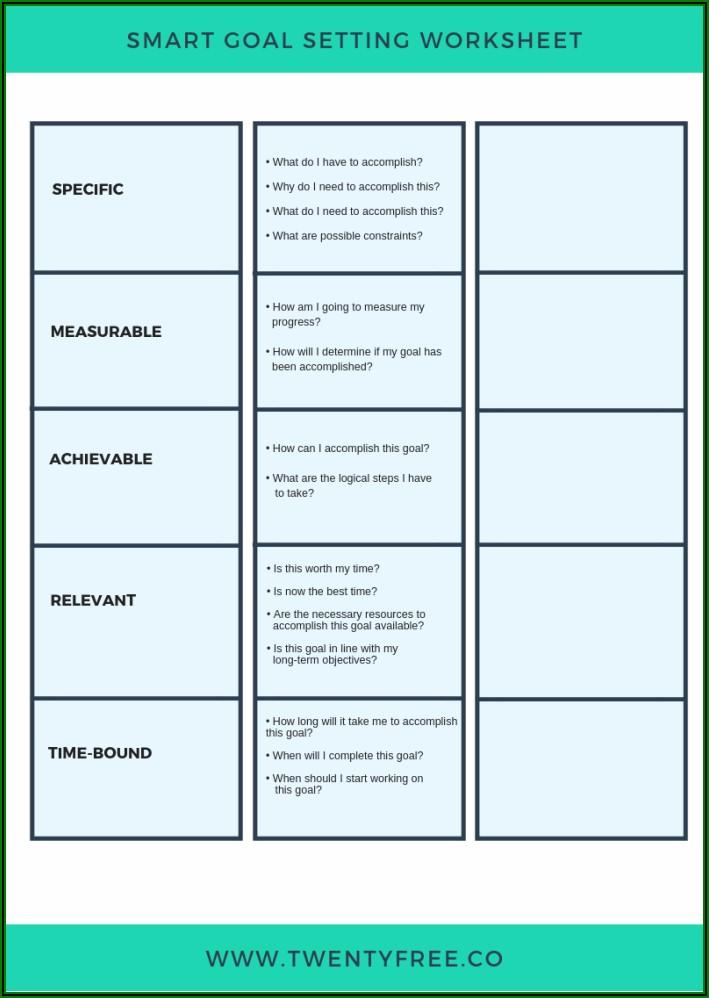 Goal Setting Template For Teachers