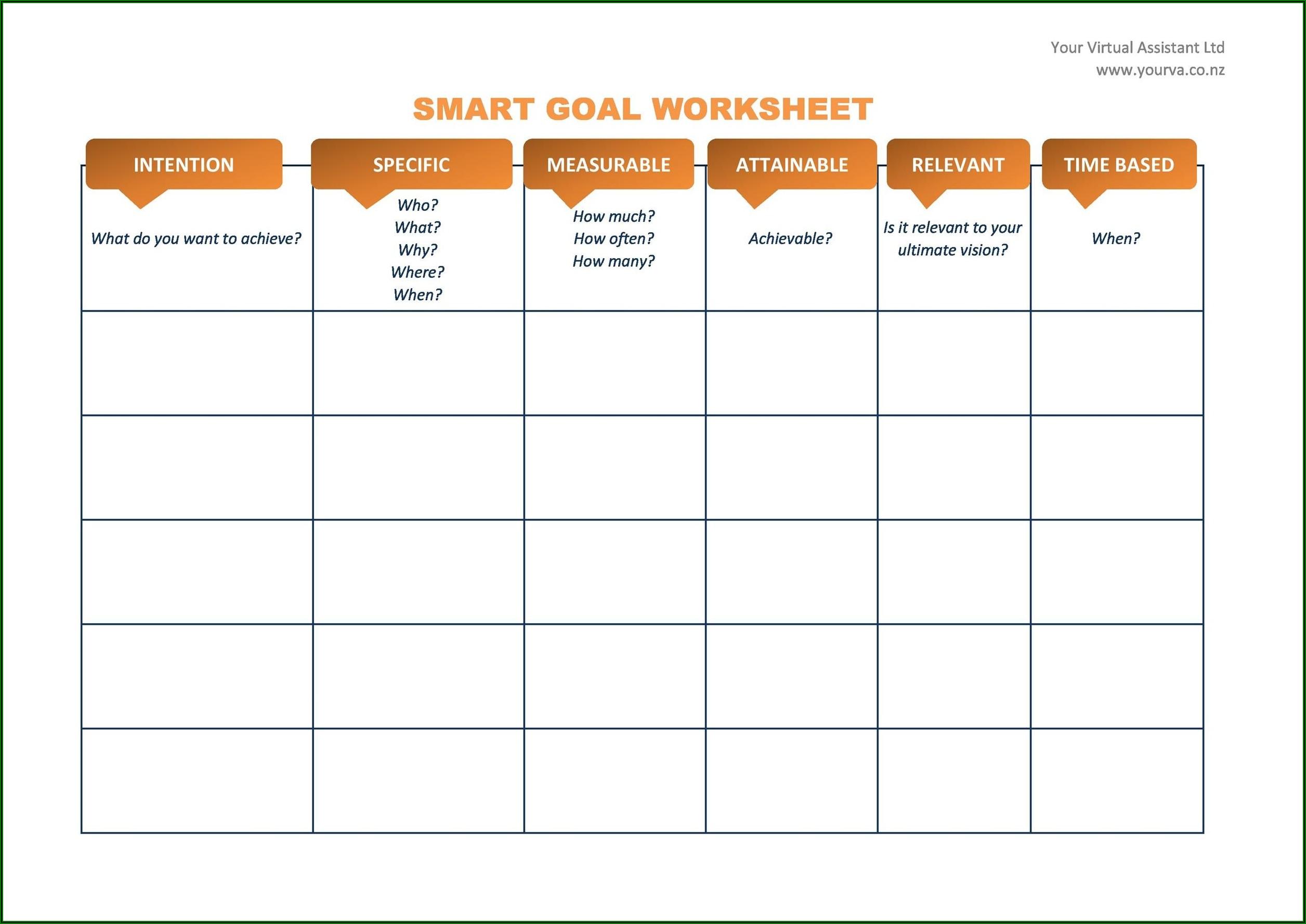 Goal Setting Worksheet For Teachers