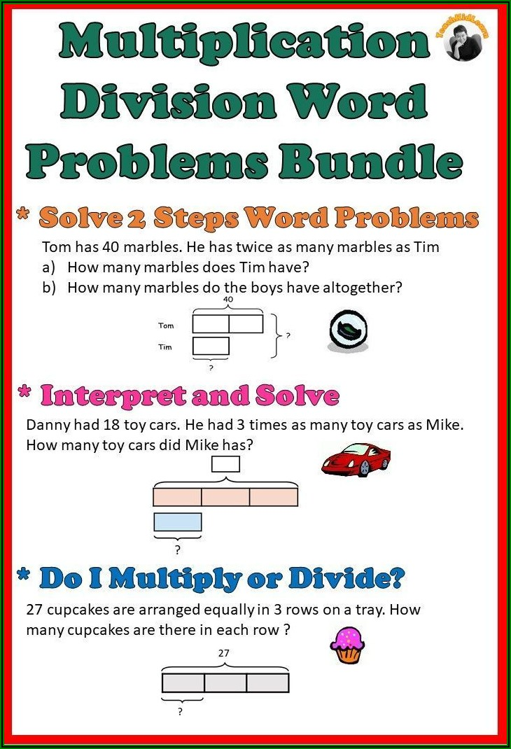 Grade 3 Math Division Word Problems Worksheets