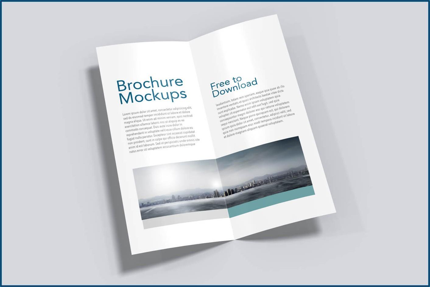 Half Fold Vertical Brochure Mockups