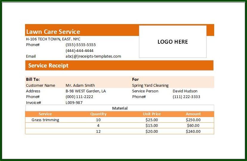 Handyman Service Invoice Template