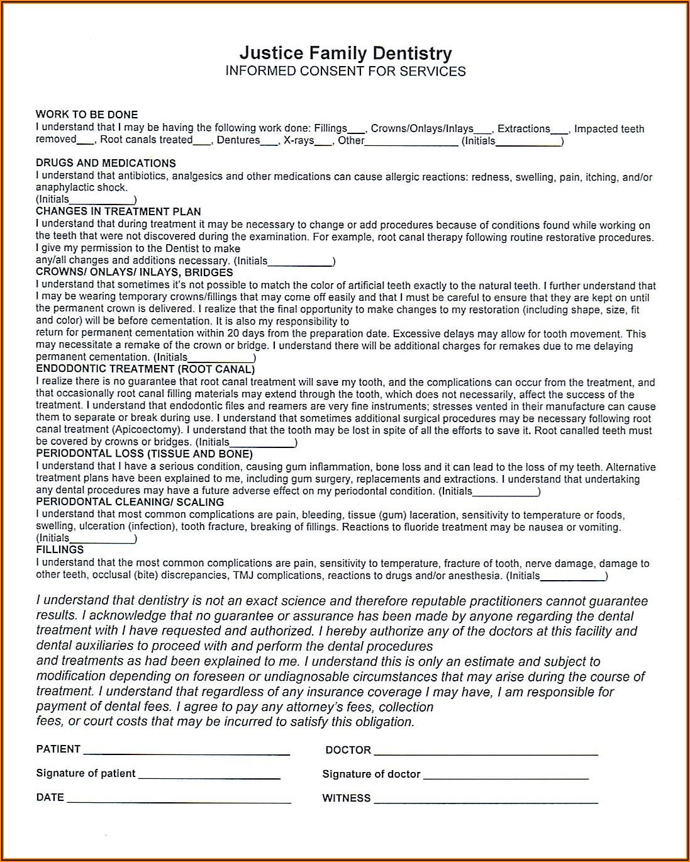Hipaa Dental Release Form