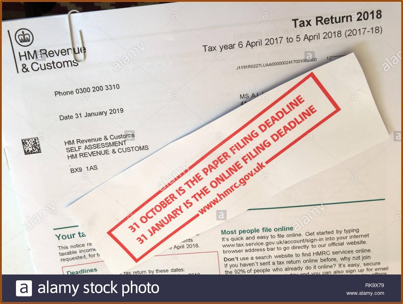 Hm Revenue Tax Return Form Online