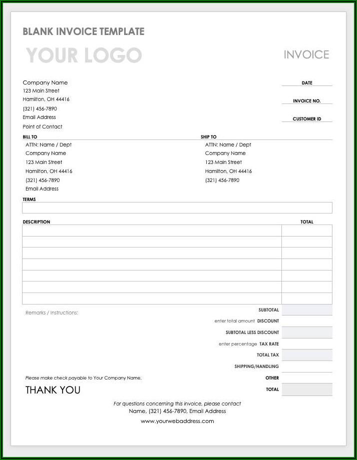 Hotel Bill Format Word File Download