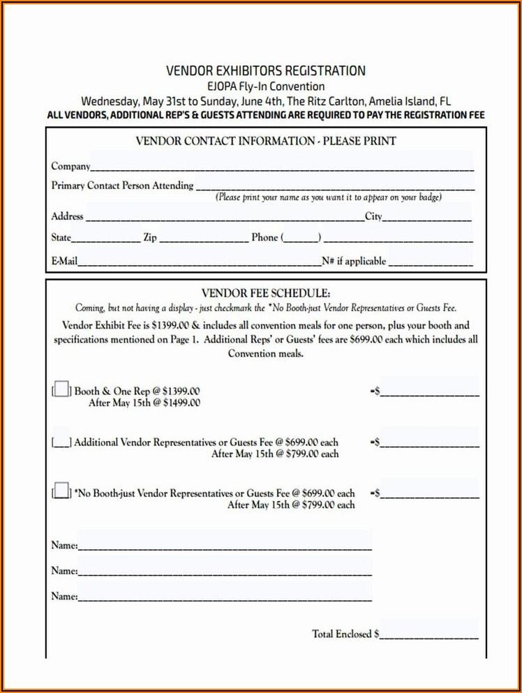Hotel Registration Form Template