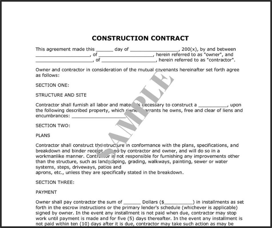 House Renovation Invoice Sample