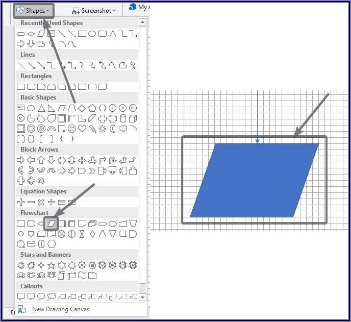 How To Create Flowchart In Microsoft Word