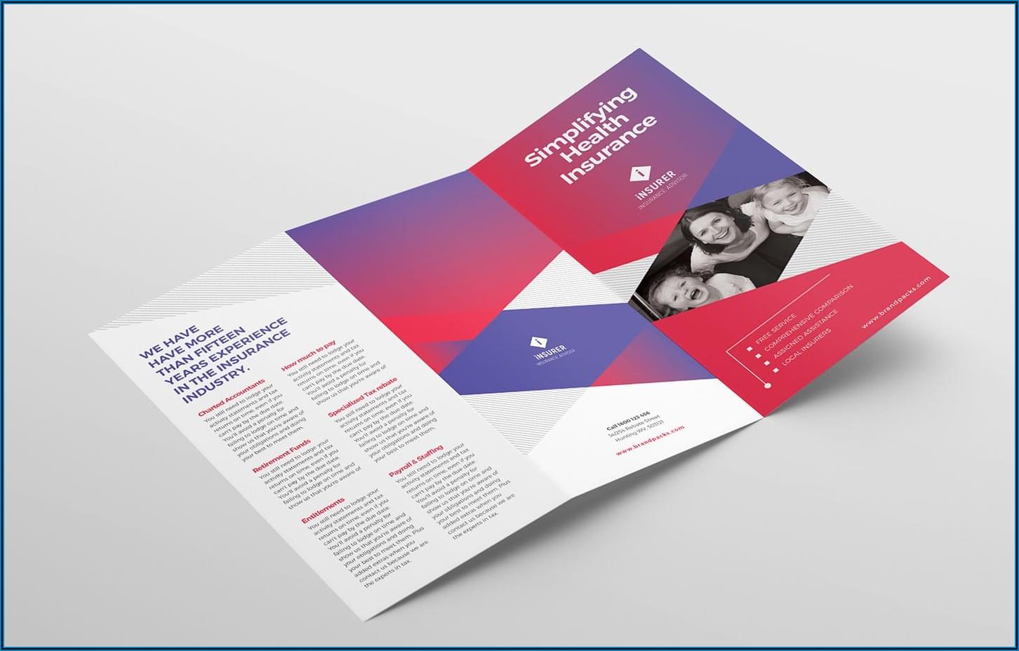 Hp Tri Fold Brochure Template