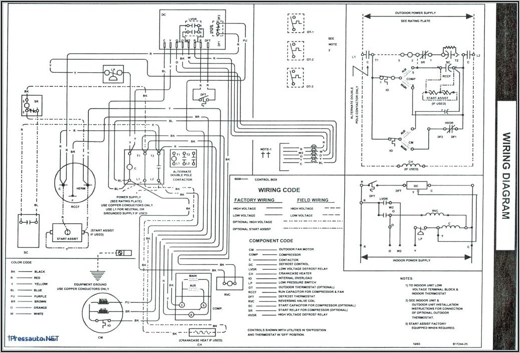 Hvac Heat Pump Thermostat Wiring Diagram