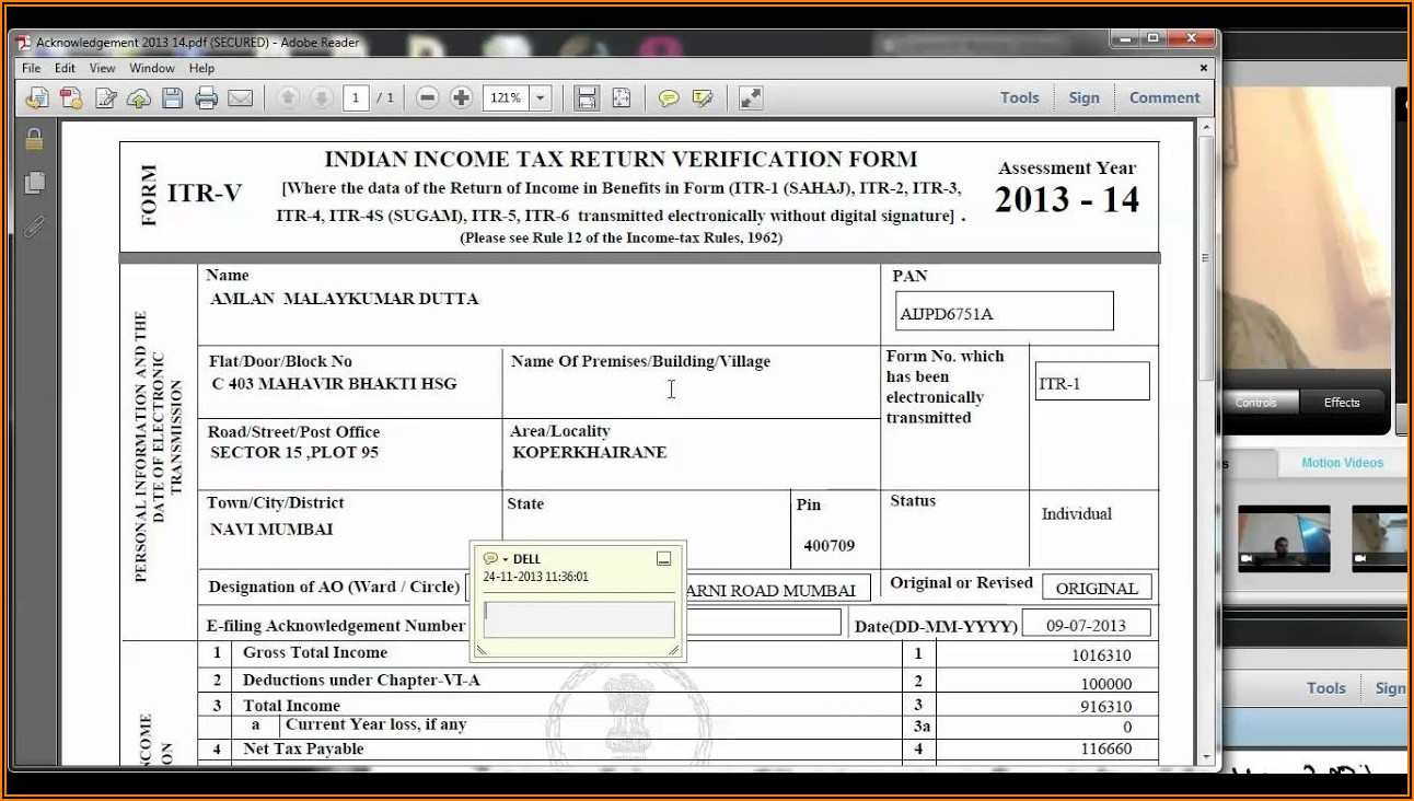 Income Tax File Password Format