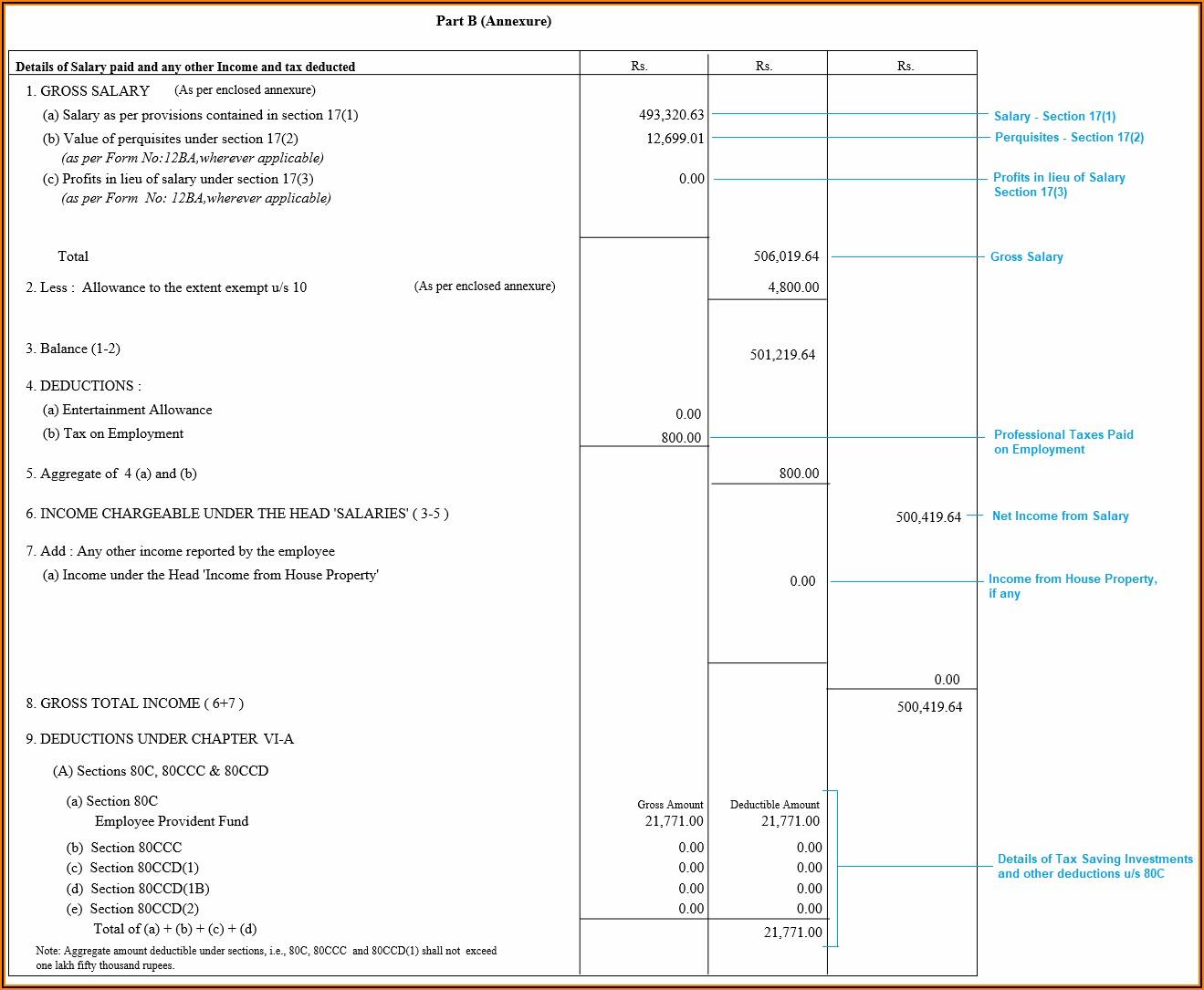 Income Tax Return Form 16 Login