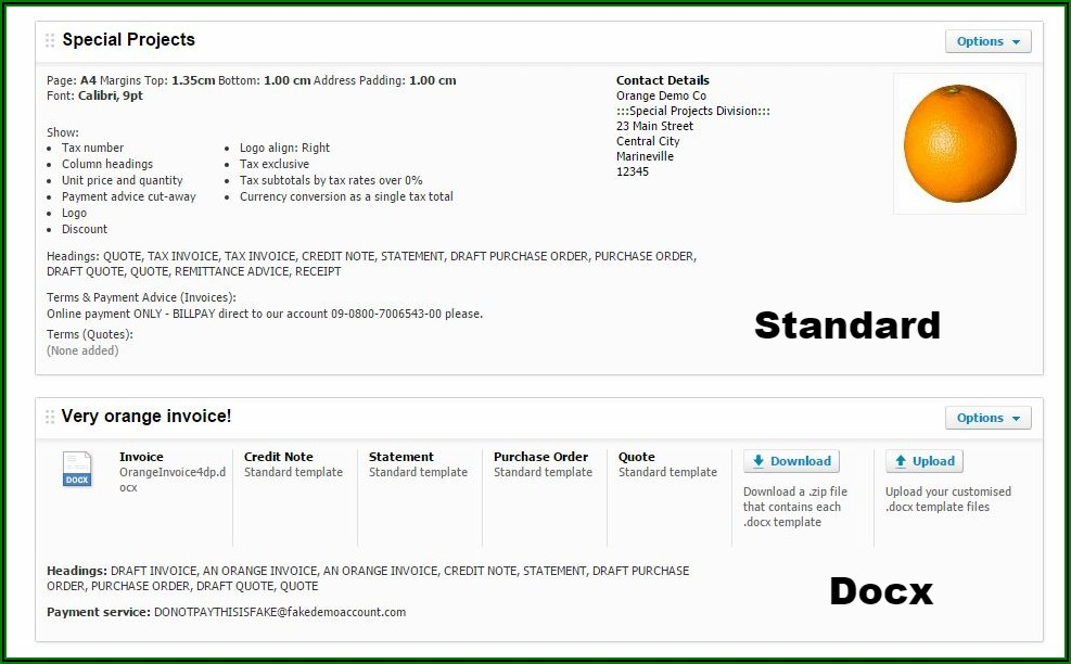 Invoice Template Docx Download