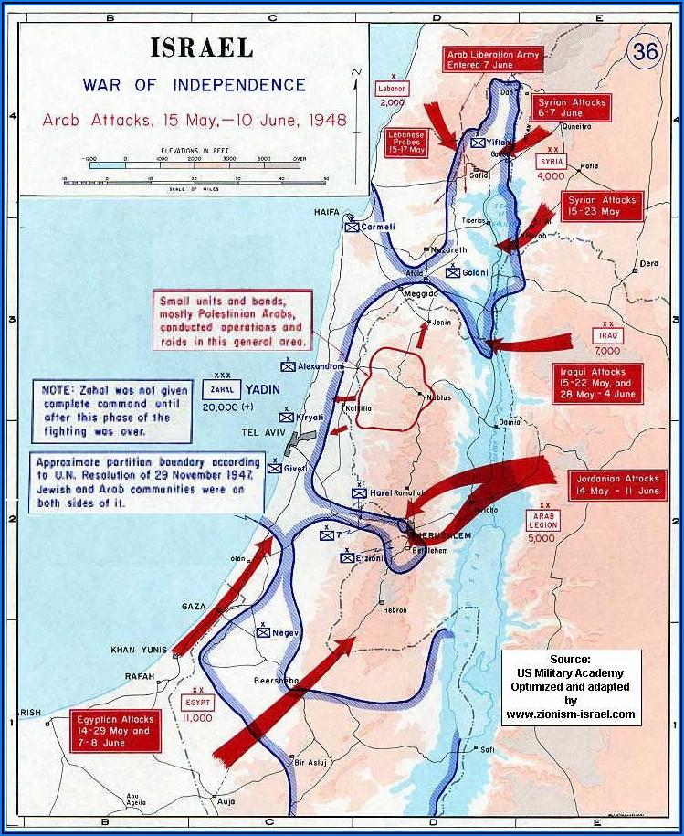 Israel Palestine War Timeline