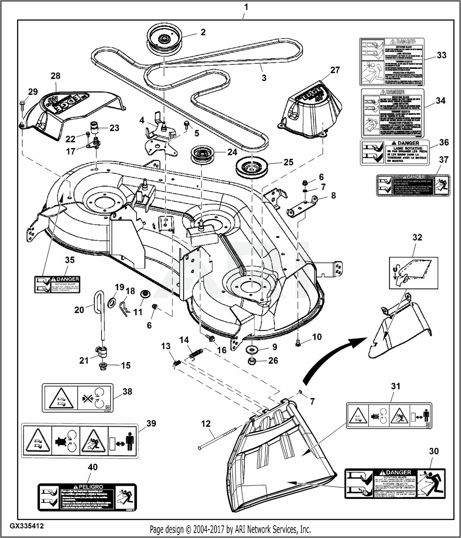 John Deere L120 48 Inch Deck Belt Routing