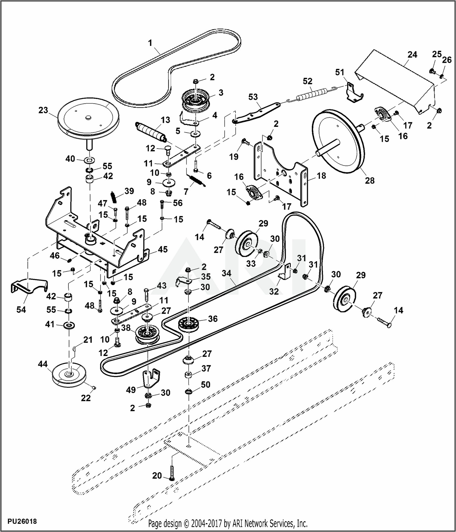 John Deere L120 Snowblower Belt Diagram