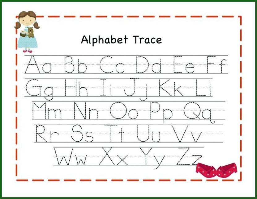 Kindergarten Alphabet Tracing Worksheets Pdf