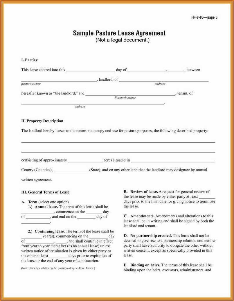 Landlord And Tenant Agreement Letter Sample Pdf