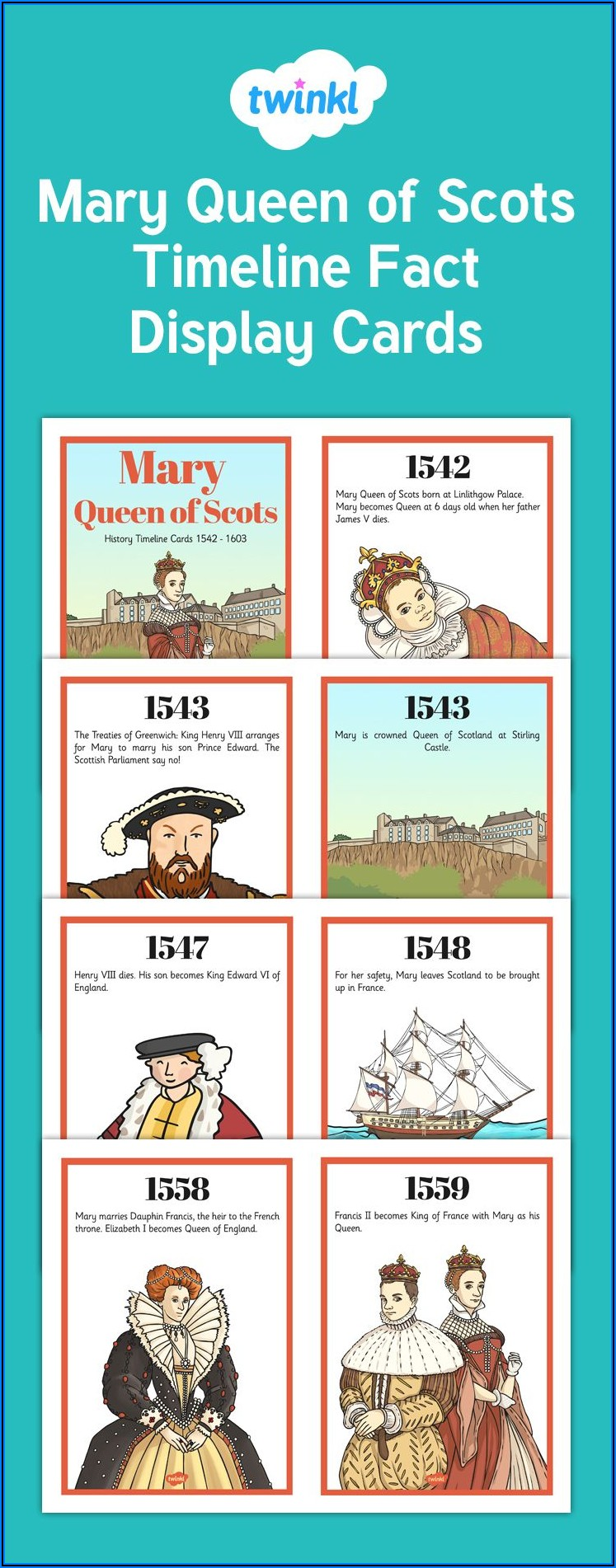 Mary Queen Of Scots Timeline Twinkl