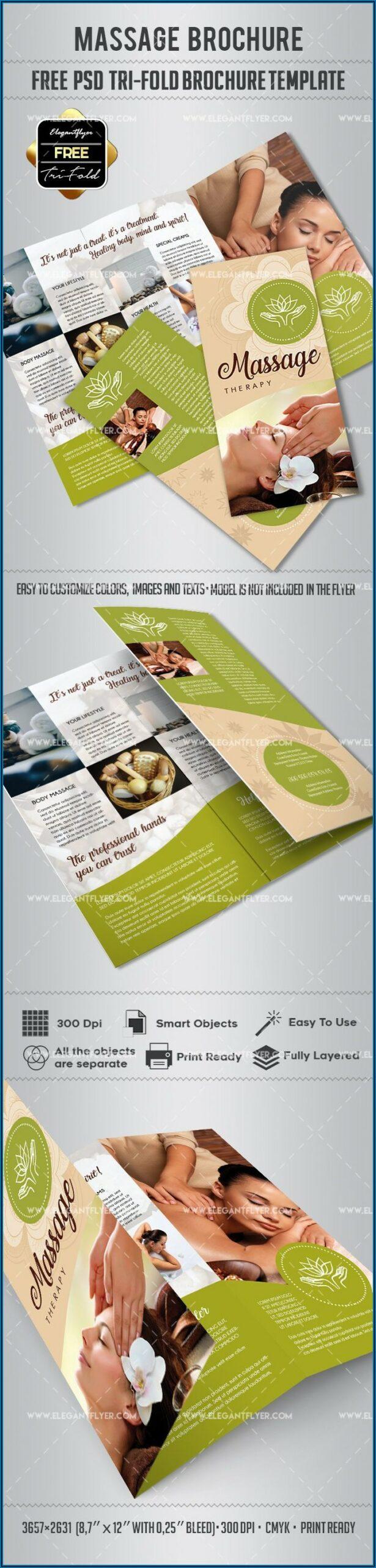 Massage Brochure Template Free