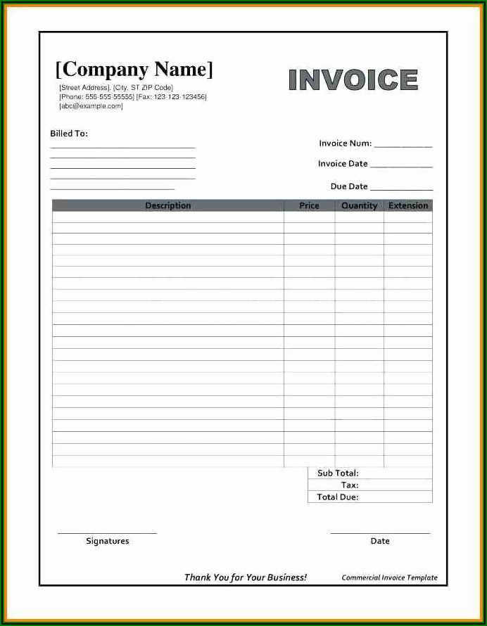 Microsoft Word Receipt Template Free Download