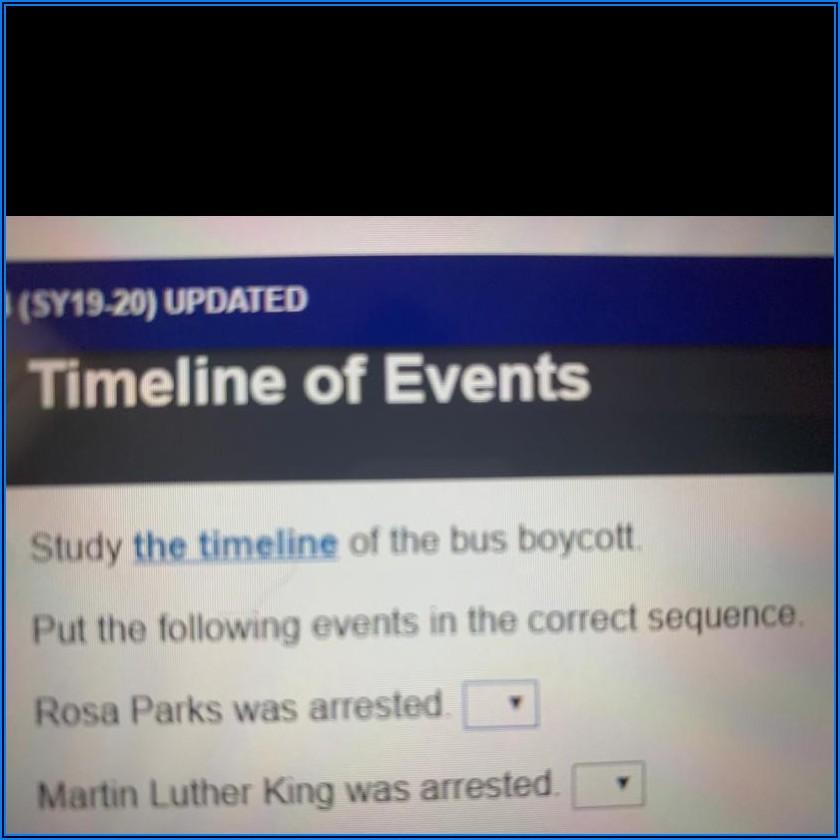 Montgomery Bus Boycott Timeline Of Events