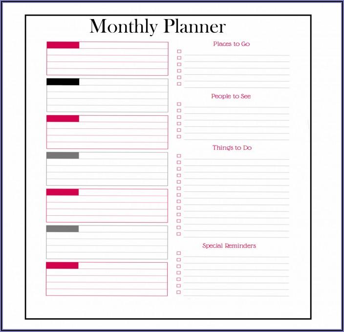 Monthly Work Calendar Template Excel