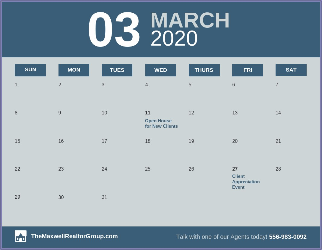 Monthly Work Calendar Template
