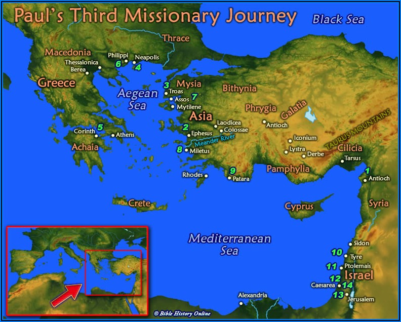 Paul's Third Missionary Journey Timeline