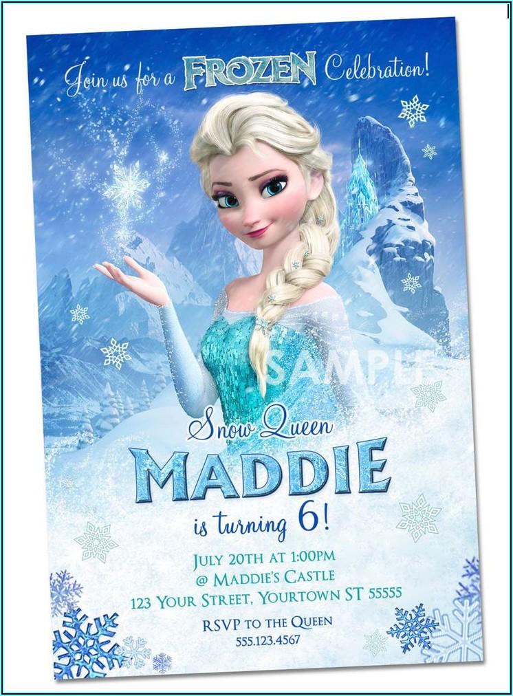 Personalized Frozen Birthday Invitations