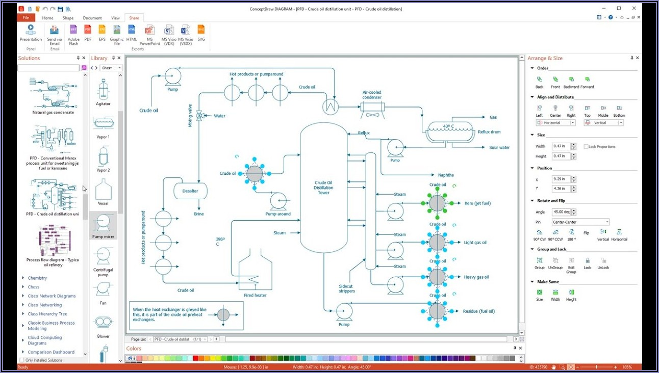 Process Flow Diagram Shapes Visio