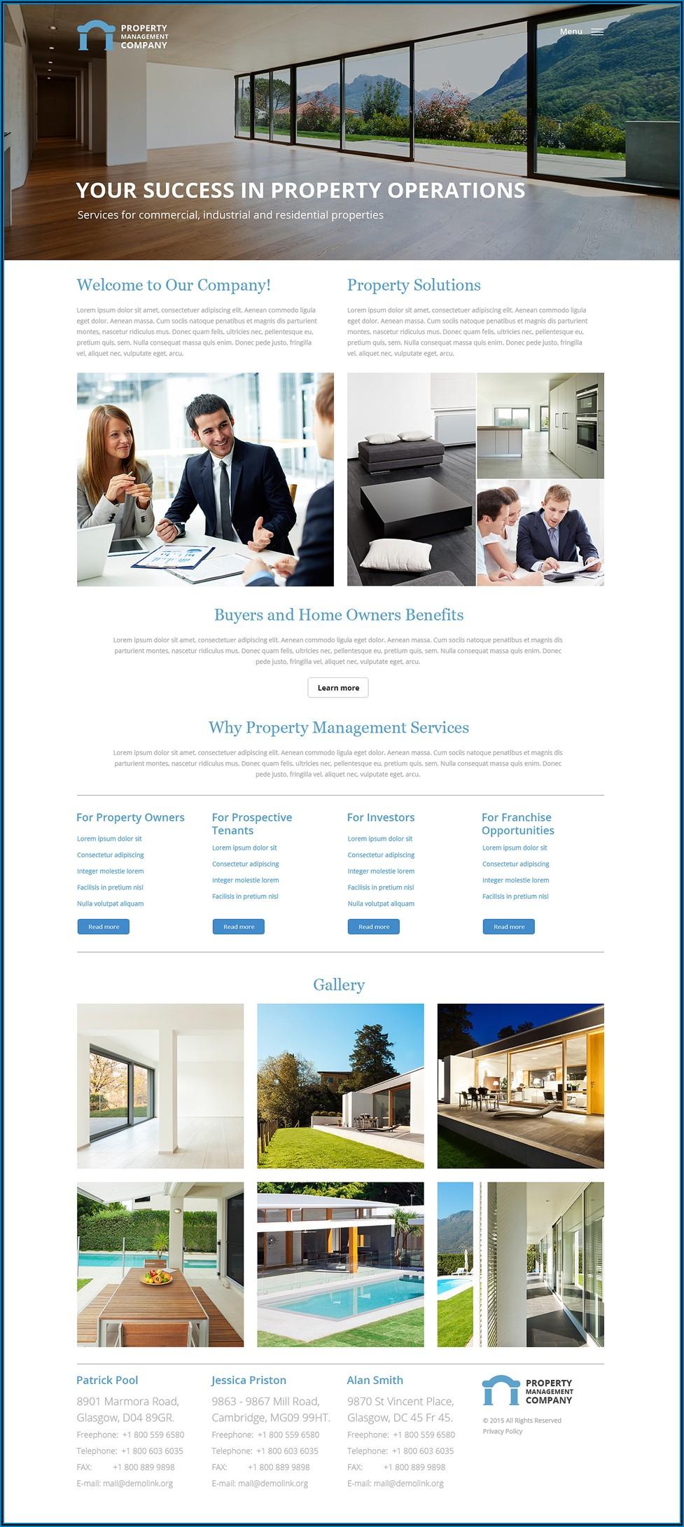 Property Management Brochure Templates