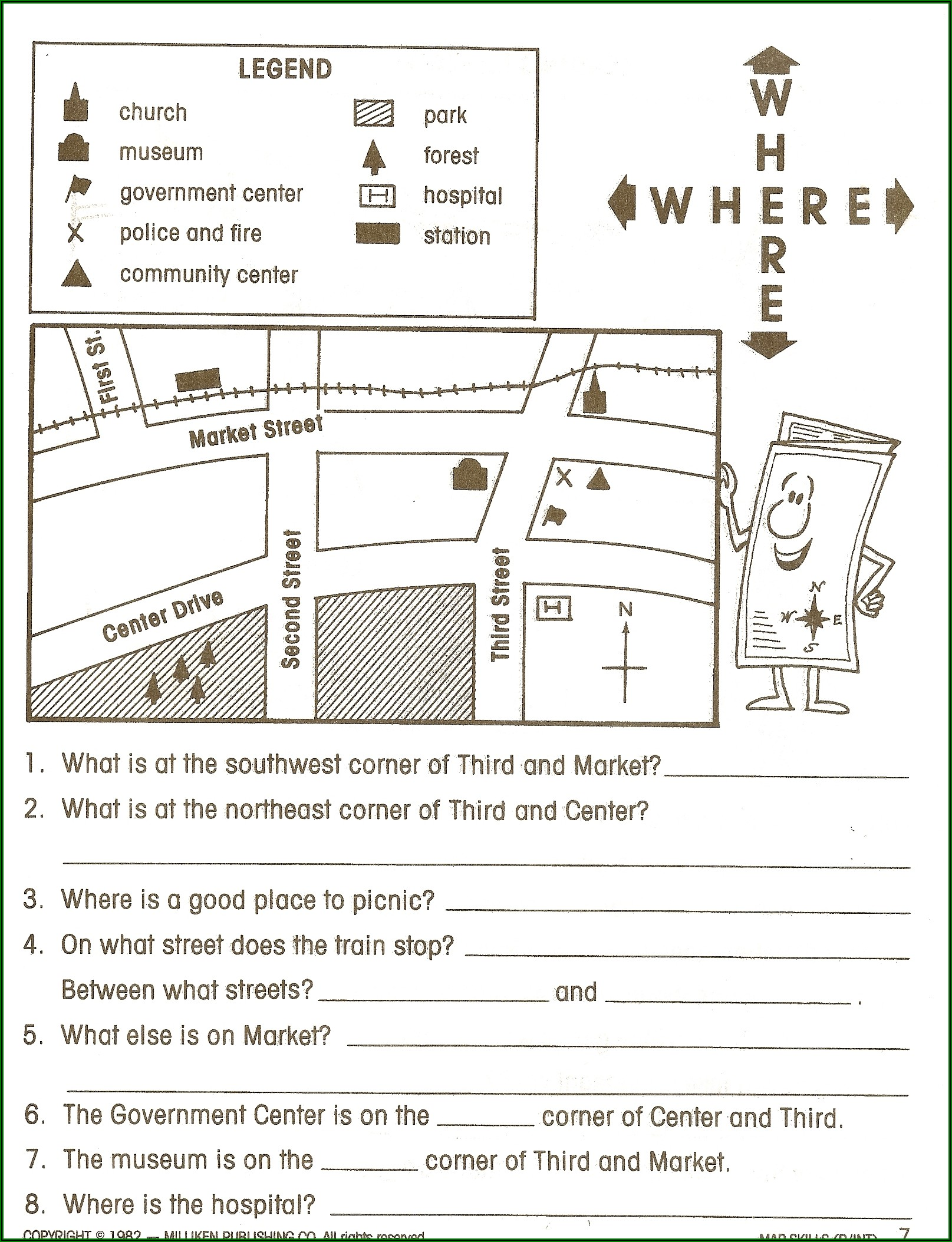 Reading A Map Worksheet Pdf High School