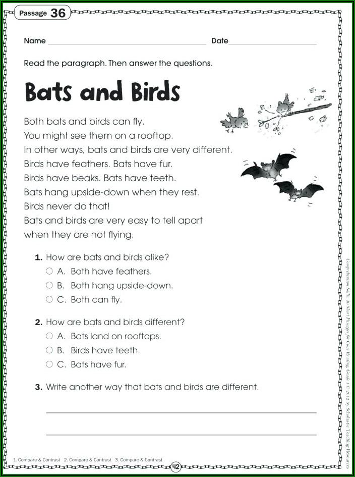 Reading Comprehension Worksheets Kindergarten Pdf