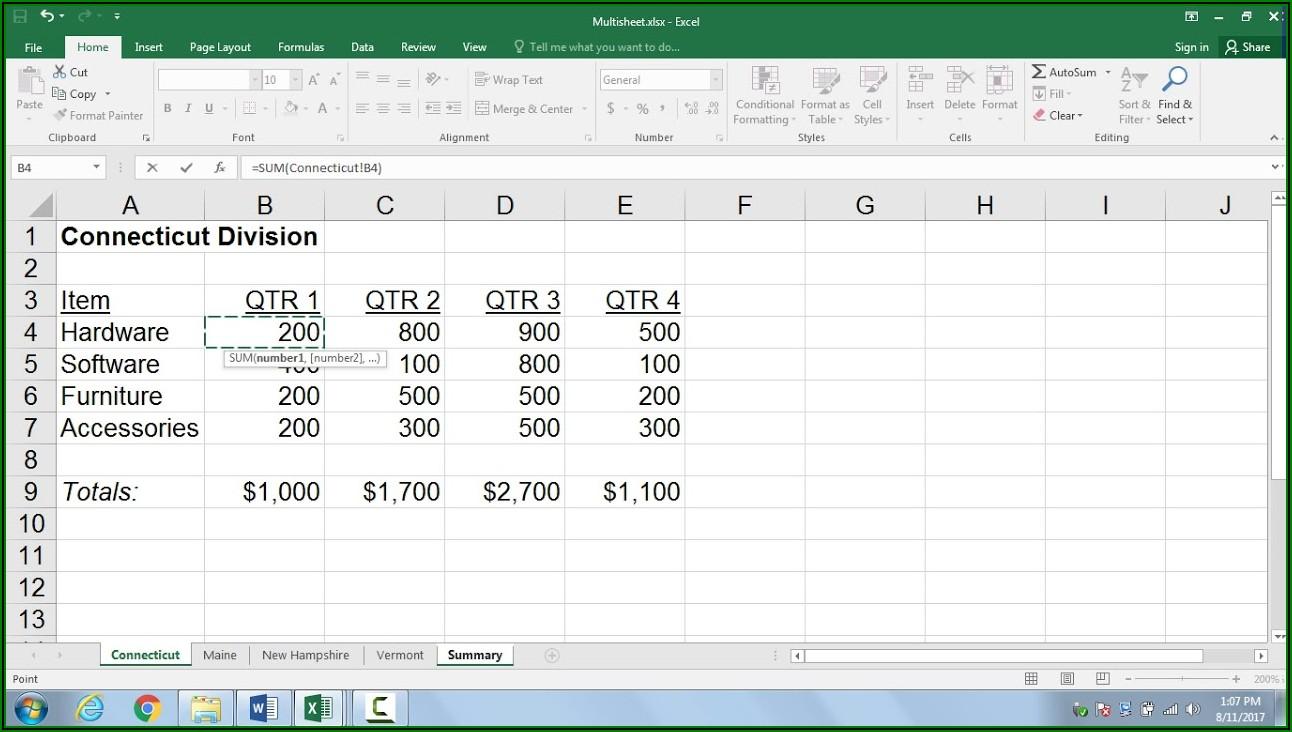 Reference Worksheet Name In Excel Formula