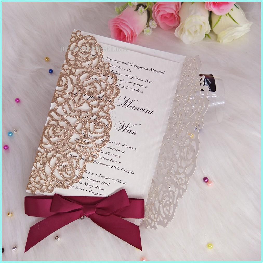 Rose Gold Invitations For Quinceanera