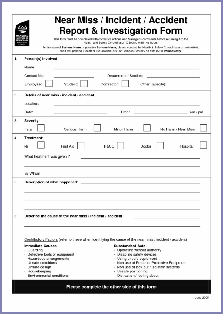 Safety Accident Investigation Report Sample